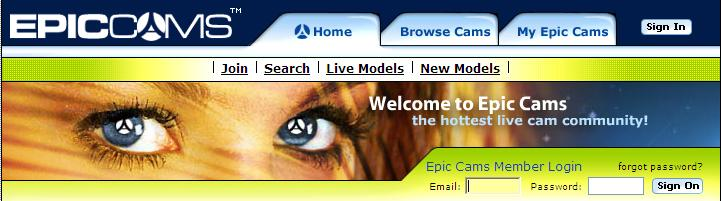 epiccams homepage